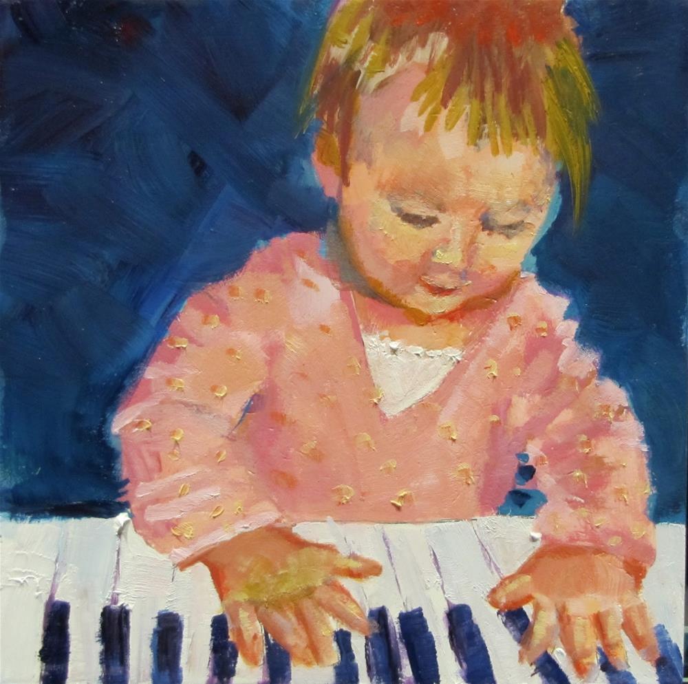 """The Music Maker"" original fine art by Christine Holzschuh"
