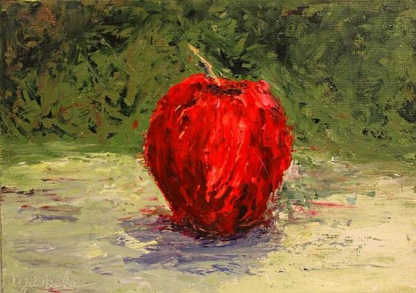 """""""Apple Still Life"""" original fine art by Barbara Janecka"""