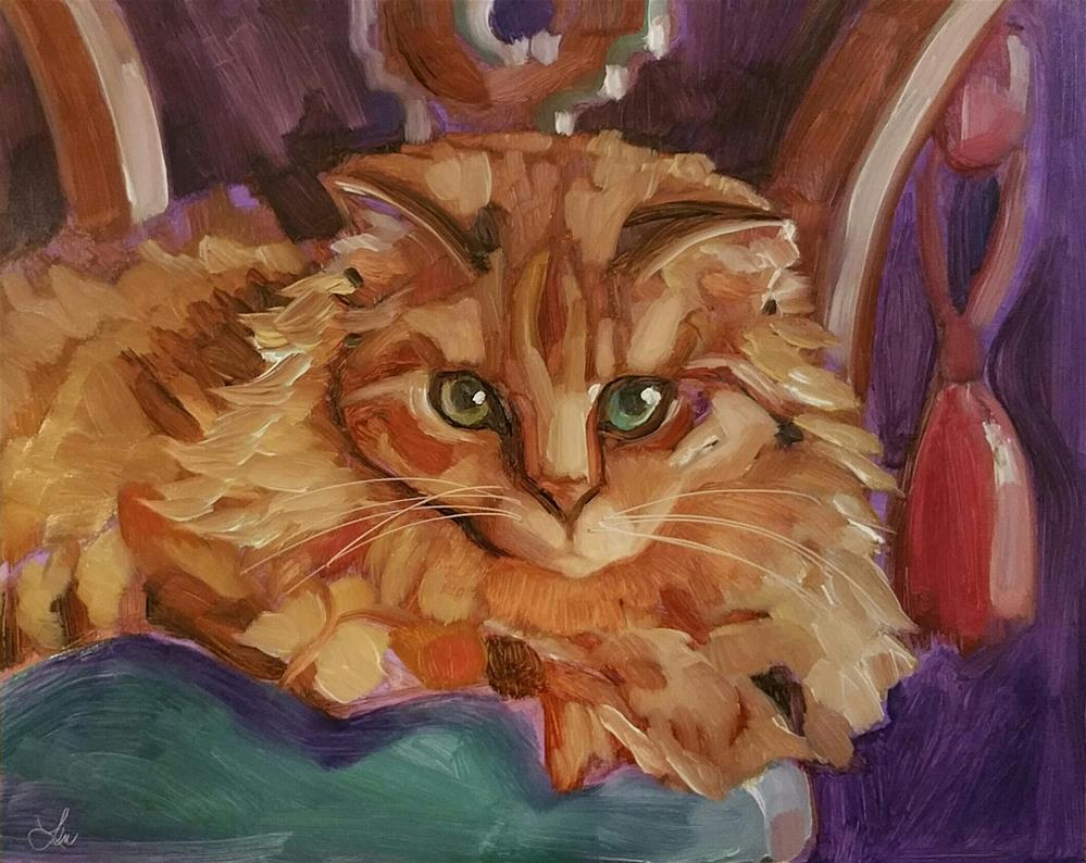"""Royal Kitty"" original fine art by Leni Tarleton"
