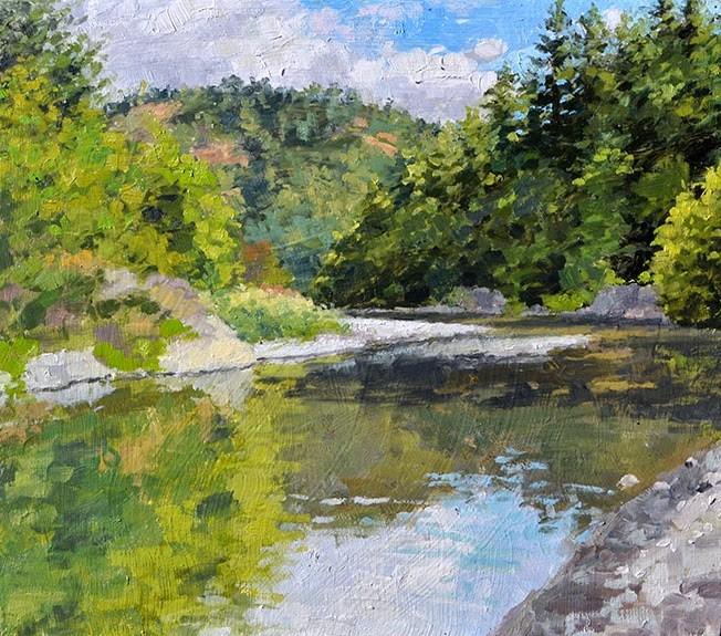 """""""Mattole River Bend"""" original fine art by Andrew Daniel"""