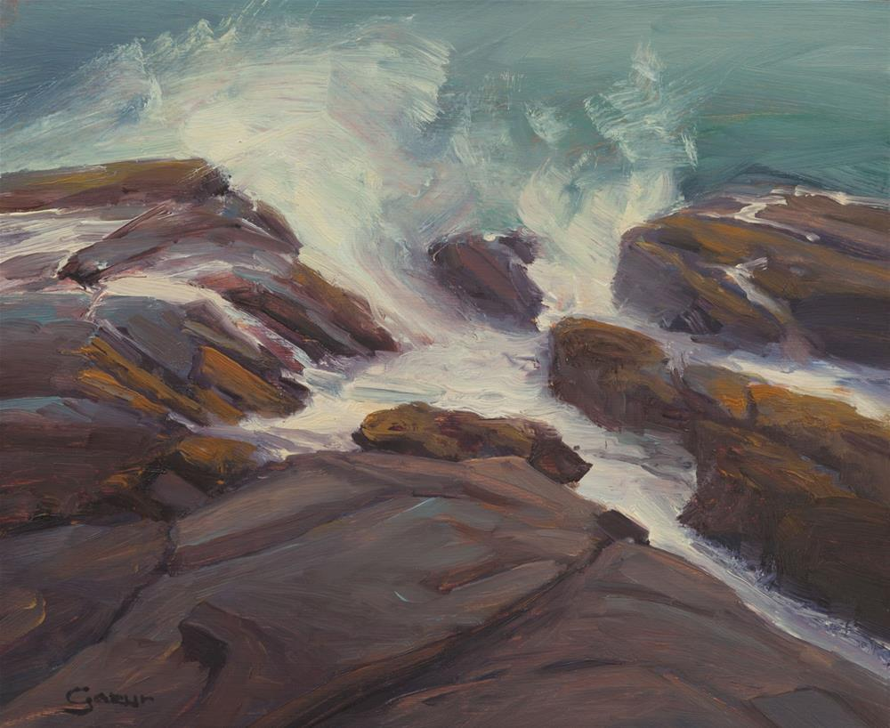 """Morning in Asilomar Beach, Pacific Grove, 10x12"" original fine art by Pavel Gazur"