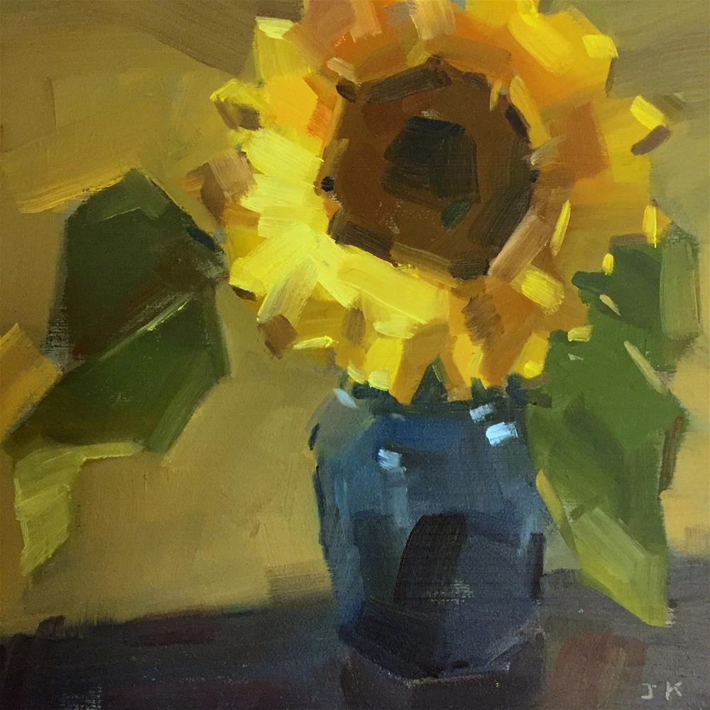 """Sunflower"" original fine art by Jiyoung Kim"