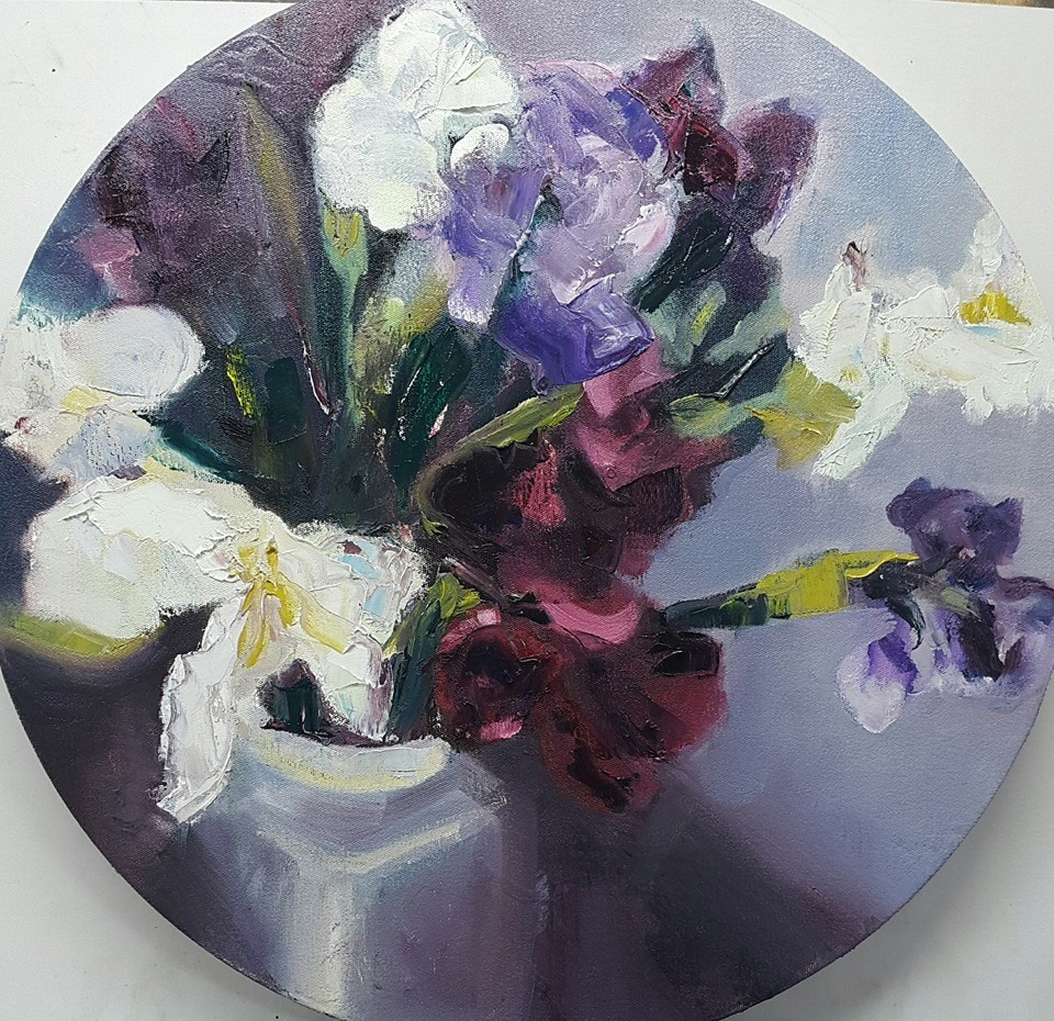 """Irises"" original fine art by Rentia Coetzee"