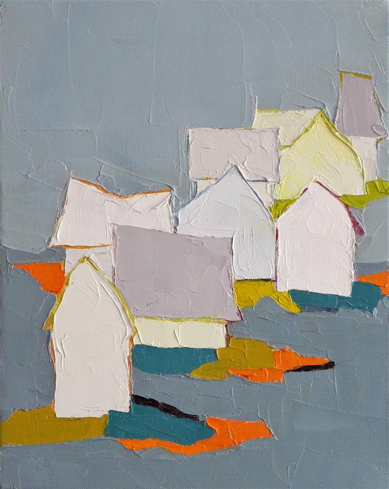 """In the Blue"" original fine art by Donna Walker"