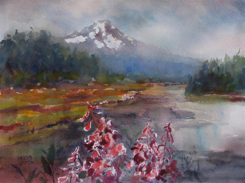 """Mt. Hood Summer"" original fine art by Melissa Gannon"