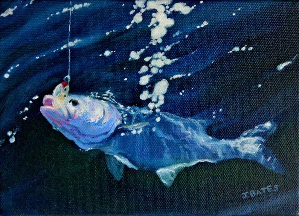 """Morning Catch"" original fine art by Jill Bates"