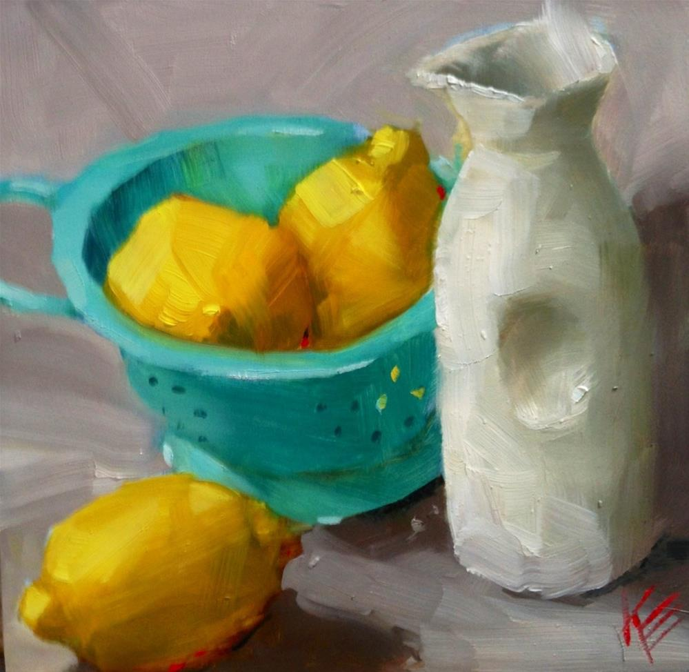 """Lemons"" original fine art by Krista Eaton"