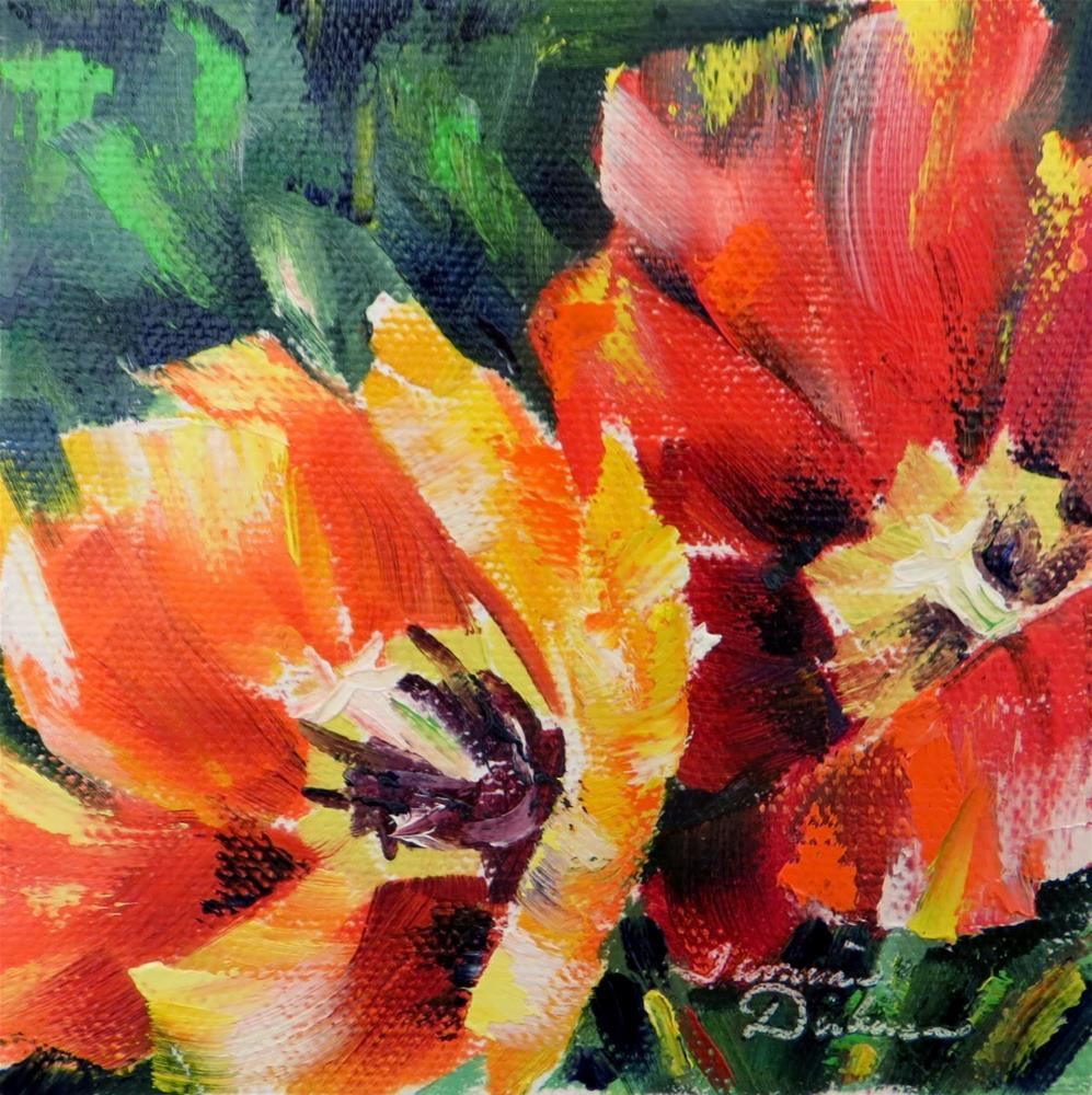 """Open Red Tulips"" original fine art by Tammie Dickerson"