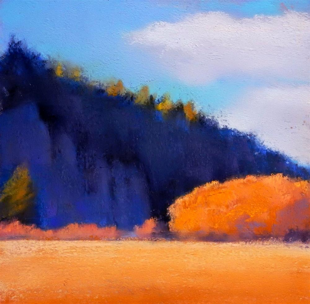 """Cliff Shadows"" original fine art by Carolyn Caldwell"