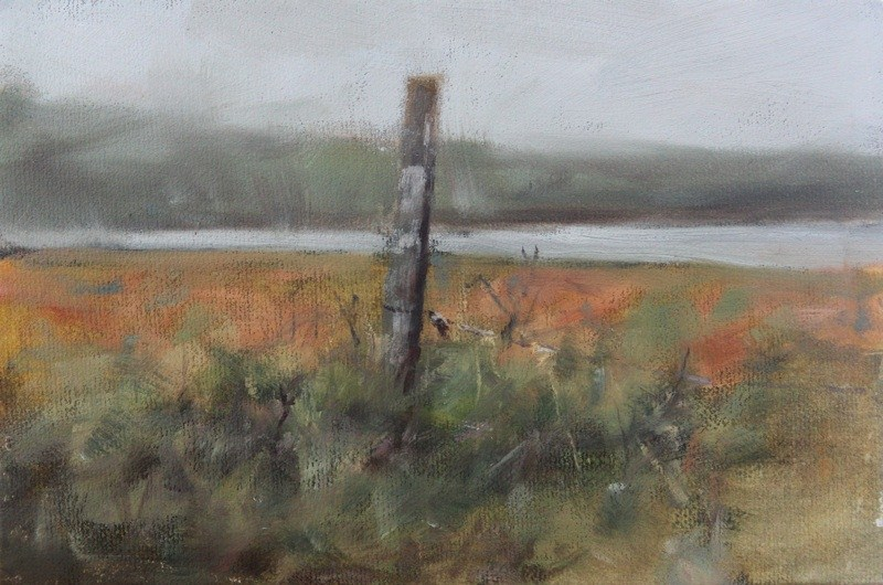 """Gray day grasses"" original fine art by Thorgrimur Andri Einarsson"