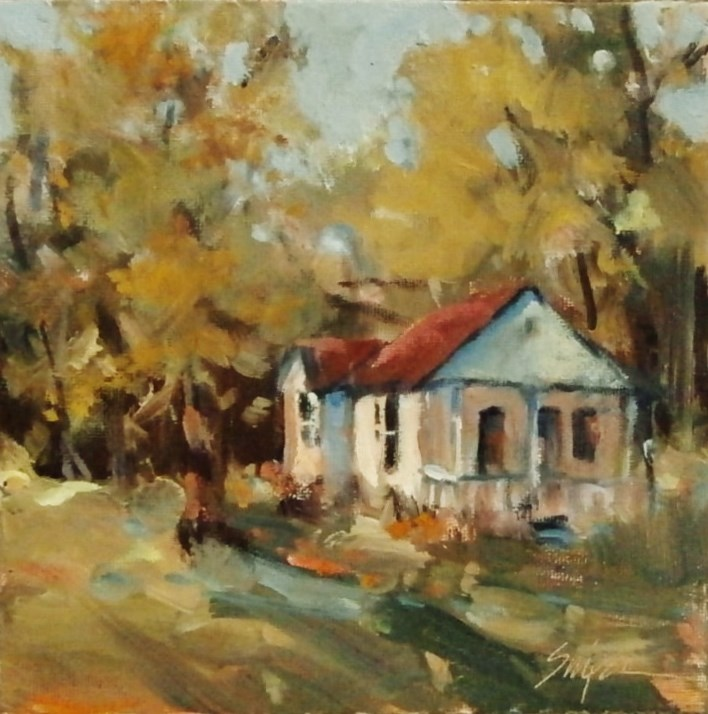 """Sunshine on the House"" original fine art by Connie Snipes"