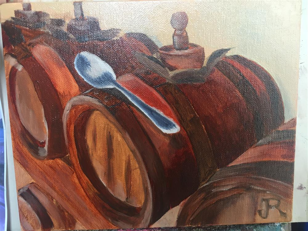 """Balsamic Cask and Spoon"" original fine art by Julie Ratcliff"