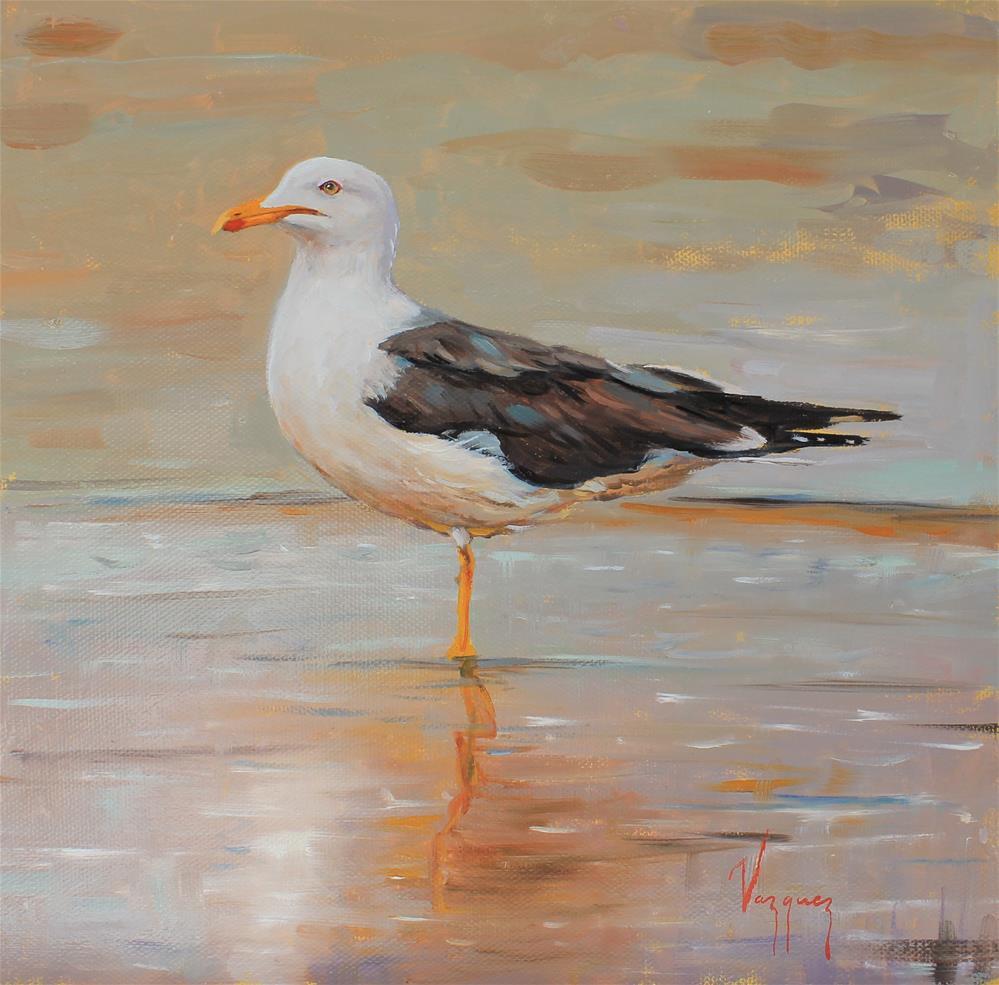 """Seagull"" original fine art by Marco Vazquez"