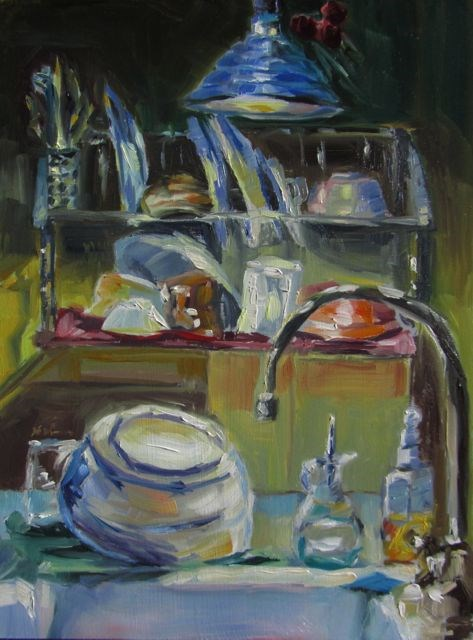"""THE KITCHEN SINK"" original fine art by Mb Warner"