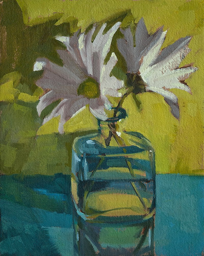 """Daisies 8.4.2014"" original fine art by Miriam Hill"