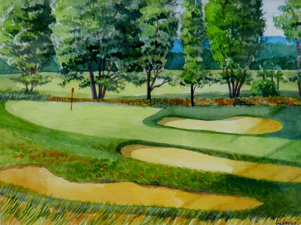 """Golf Course 1"" original fine art by Velma Davies"