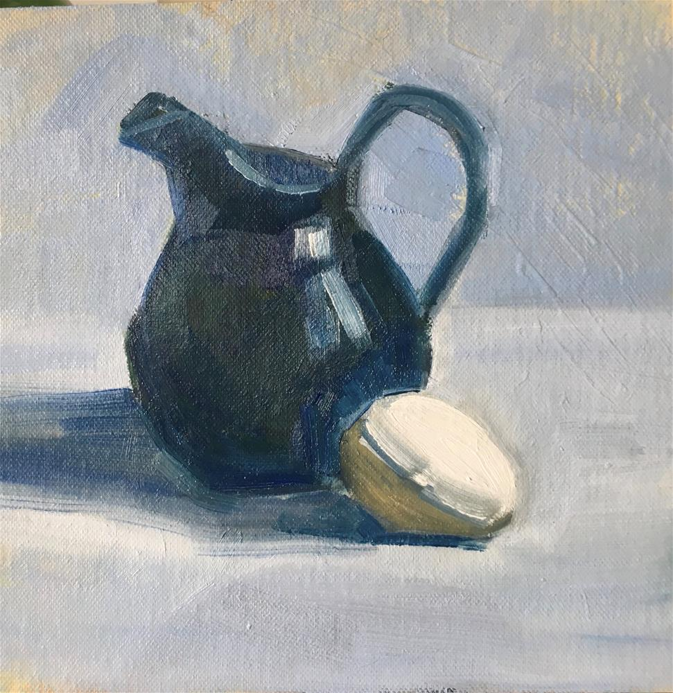 """Still Life With Small Pitcher"" original fine art by Megan Schembre"