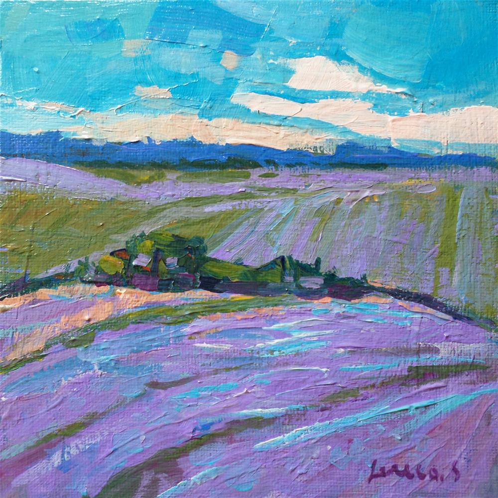 """LAVENDER"" original fine art by salvatore greco"