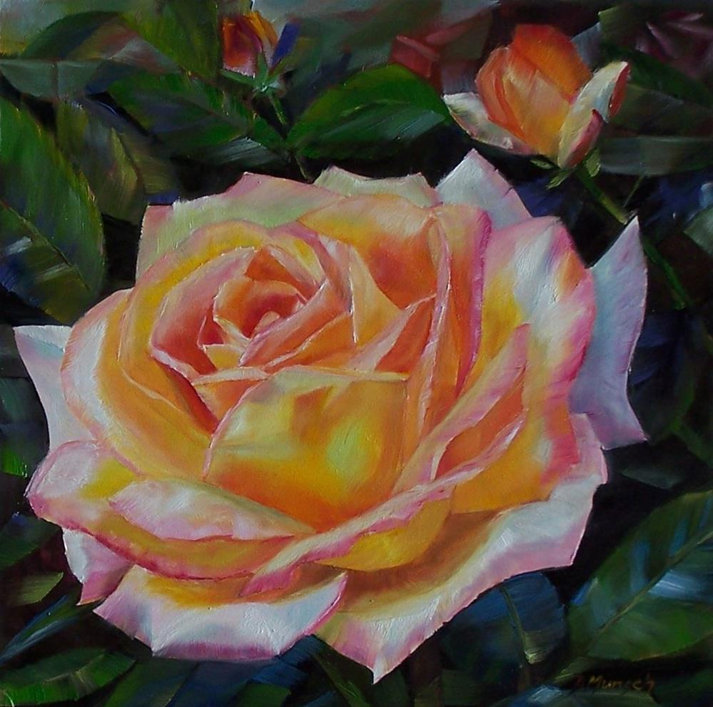"""Big Rose"" original fine art by Donna Munsch"