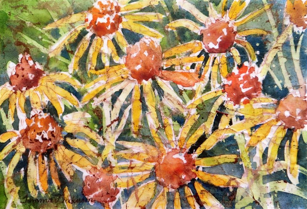 """Lazy Susan Batik"" original fine art by Tammie Dickerson"