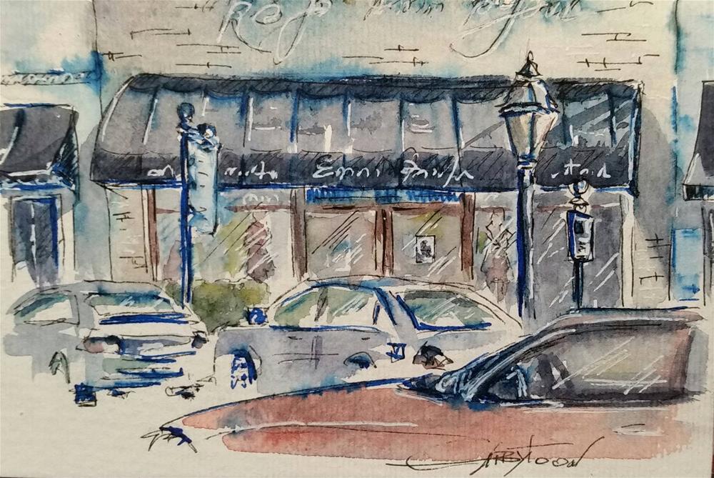 """""""Cityscape"""" original fine art by Gabriella DeLamater"""