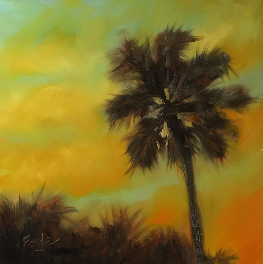 """15-9 Florida Dreaming"" original fine art by Rachel Fogle"