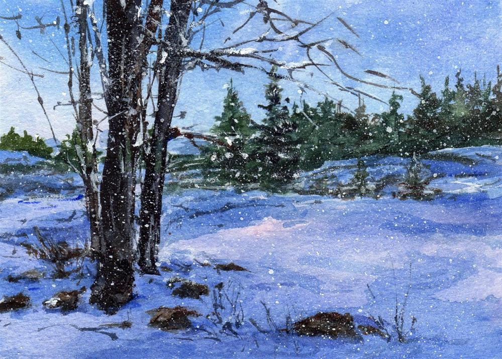 """First Snow"" original fine art by Linda Henry"