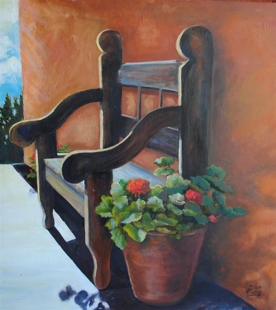 """Santa Fe Chair"" original fine art by Nan Perry"