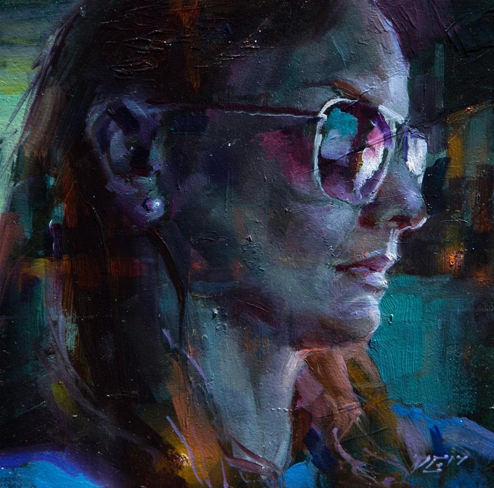 """Girl with a Pearl Earring № 4"" original fine art by Dimitriy Gritsenko"