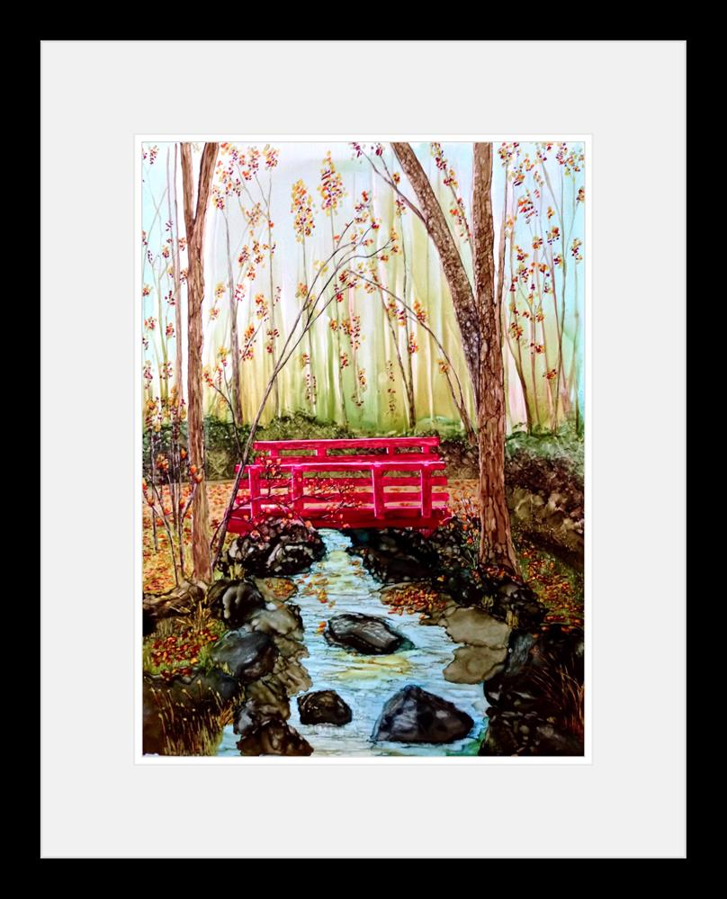 """Red Bridge Creek"" original fine art by Korinne Carpino"
