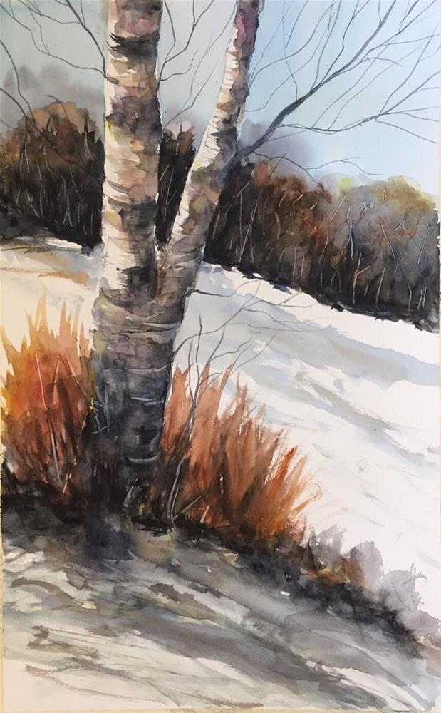"""Birch Study"" original fine art by Melissa Gresham"