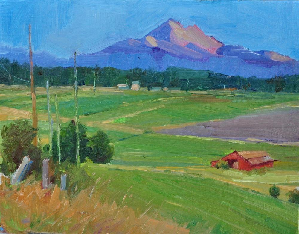 """Sherman road 8'x10 oil on linen"" original fine art by Emiliya Lane"