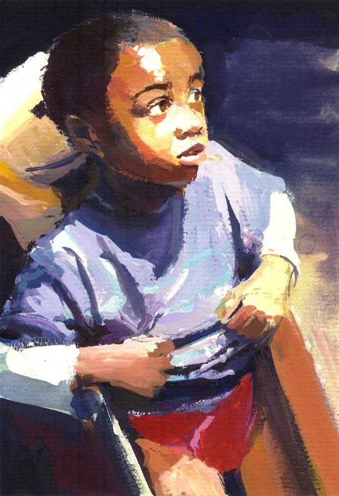 """Kids Life Art and stuff 16"" original fine art by Adebanji Alade"
