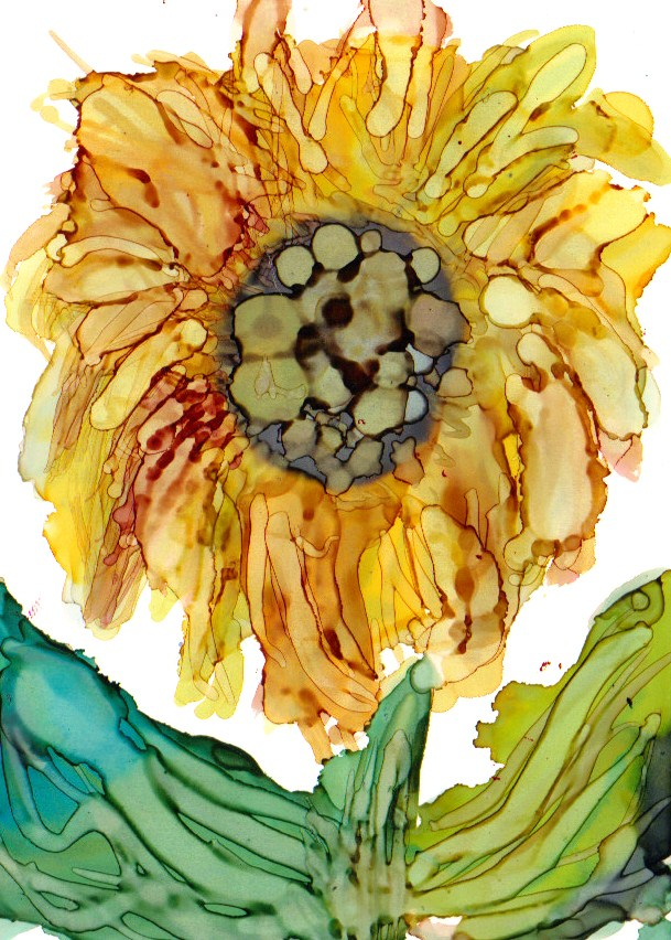 """Sunflower 1"" original fine art by Kristen Dukat"