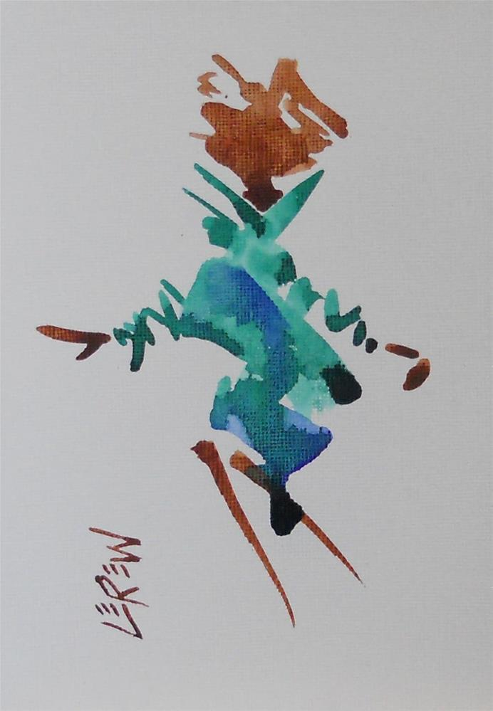 """Serendipity Blot Figure Sketch #13-05-01"" original fine art by Larry Lerew"