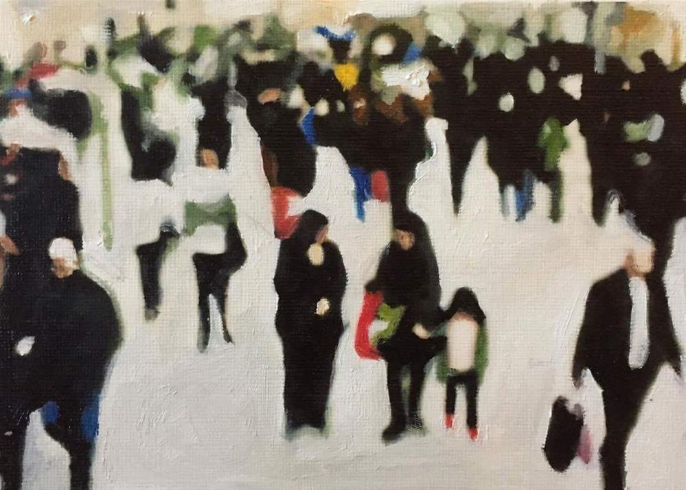 """On The Move II"" original fine art by John Cameron"