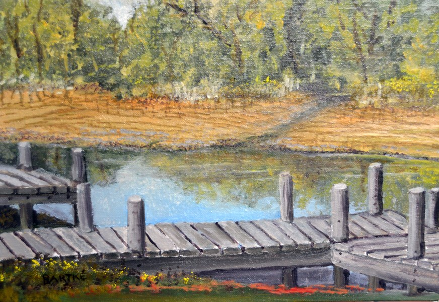 """At The Dock"" original fine art by Janice Bartke Thompson"