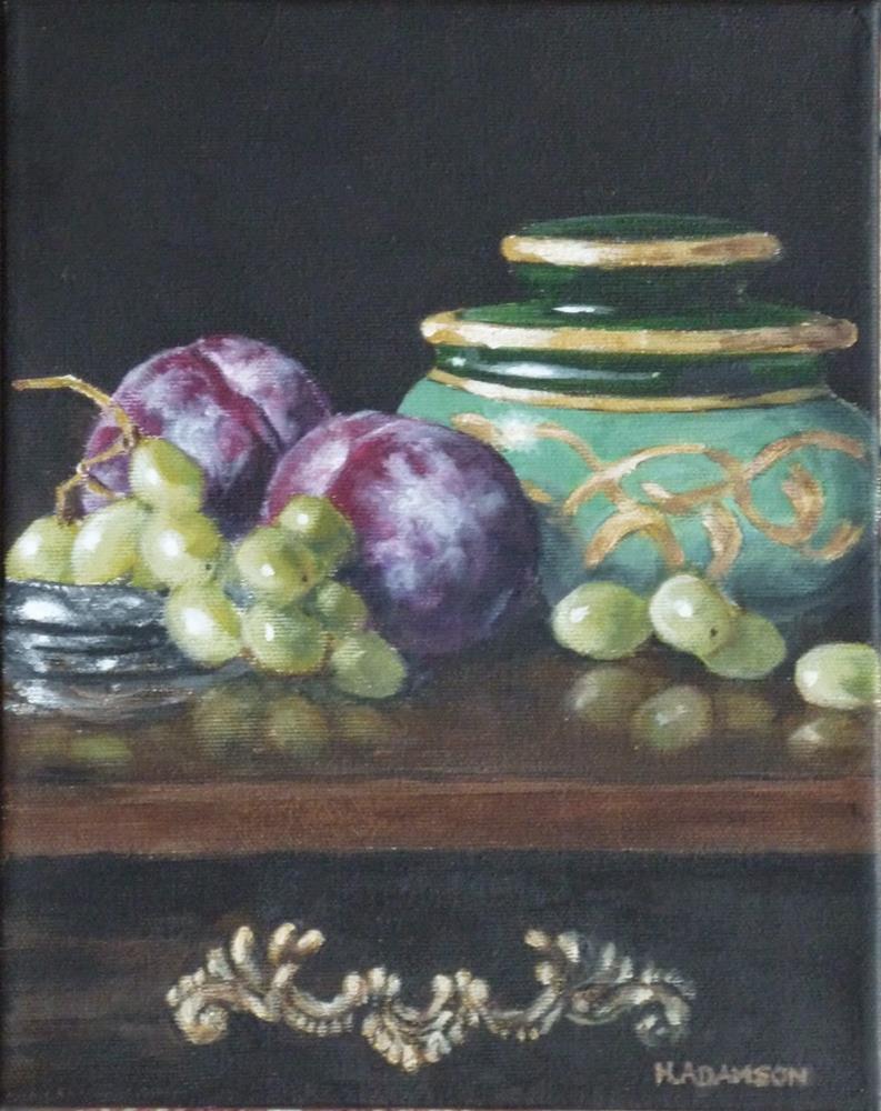 """Heirloom Humidor with Fruit"" original fine art by Helene Adamson"