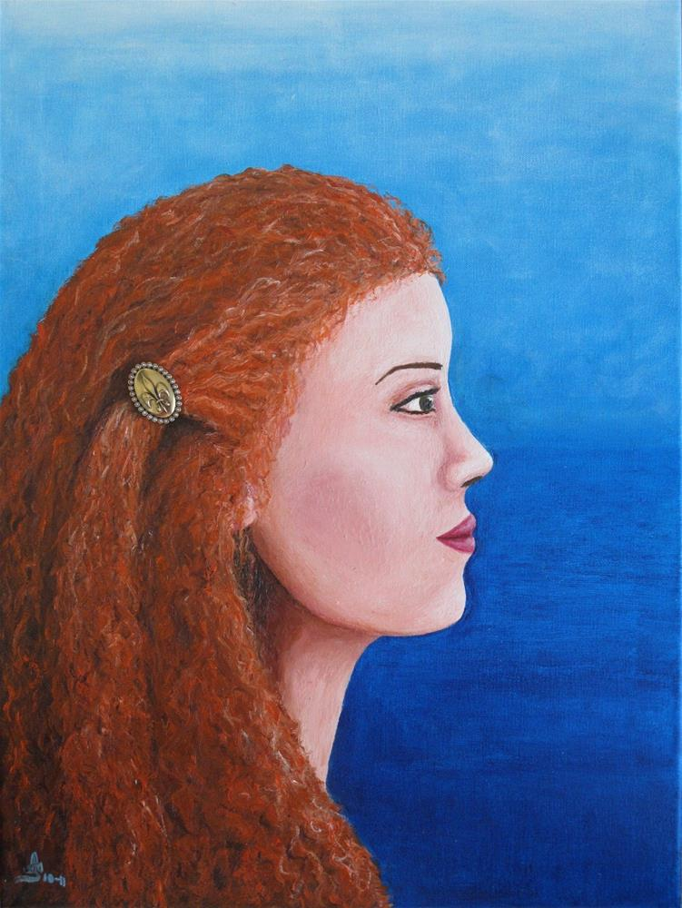 """A woman by the sea"" original fine art by Anna Starkova"