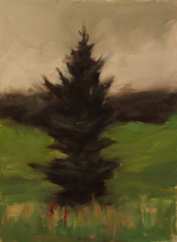 """My lonely Tree"" original fine art by Thorgrimur Andri Einarsson"