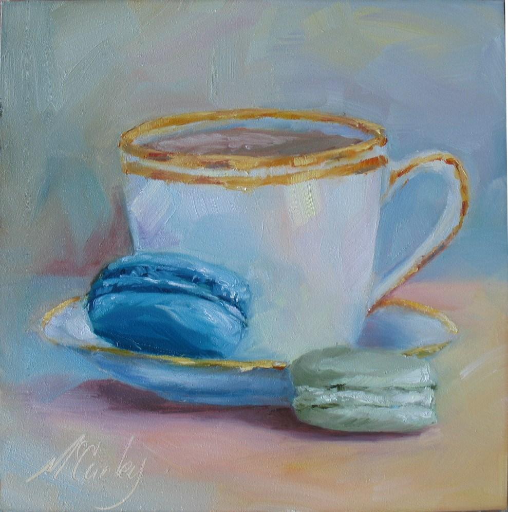"""Tea and Macarons"" original fine art by Melisa McCurley"