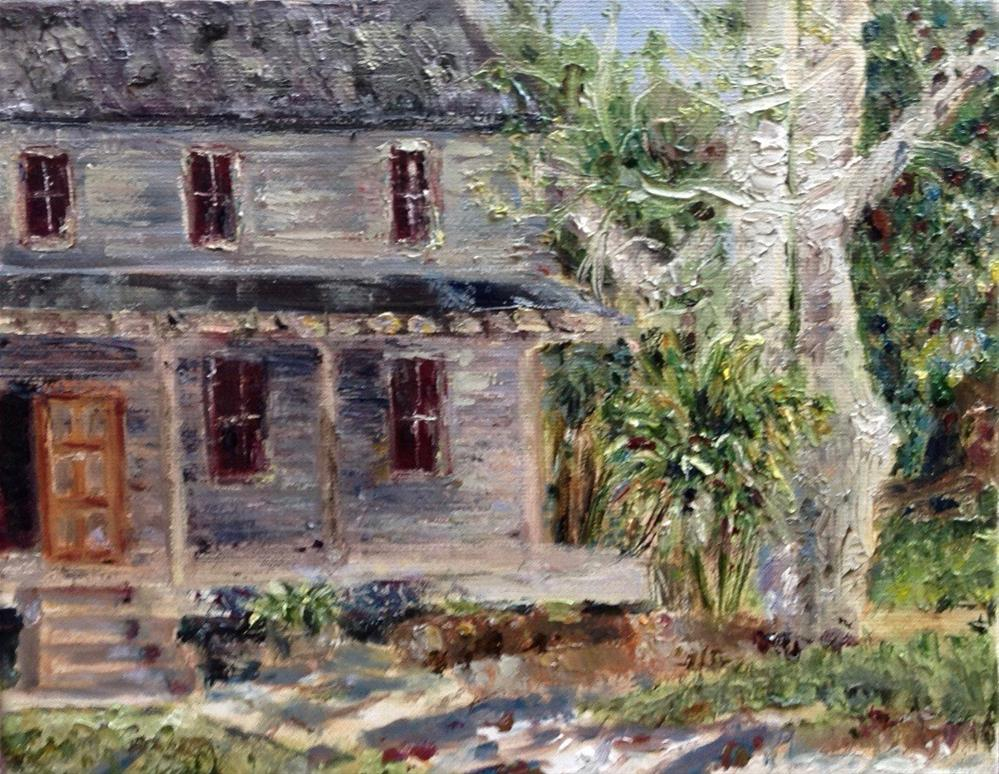 """Old House at Koreshan Site"" original fine art by Judy Usavage"