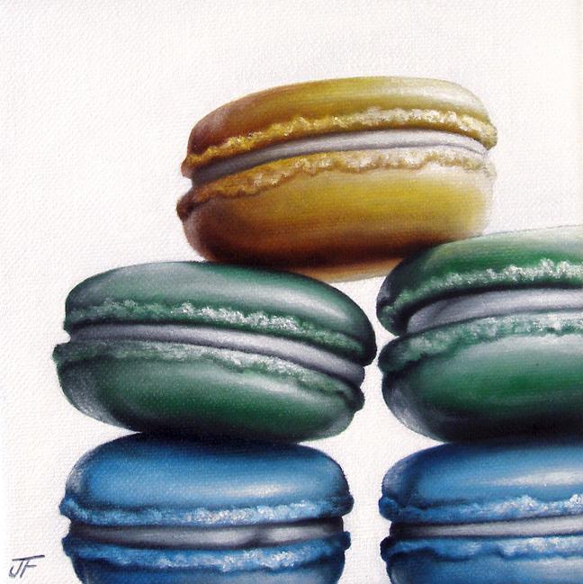 """Macaron Study III"" original fine art by Jelaine Faunce"