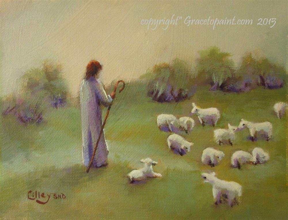 """One Flock, One Shepherd"" original fine art by Maresa Lilley"