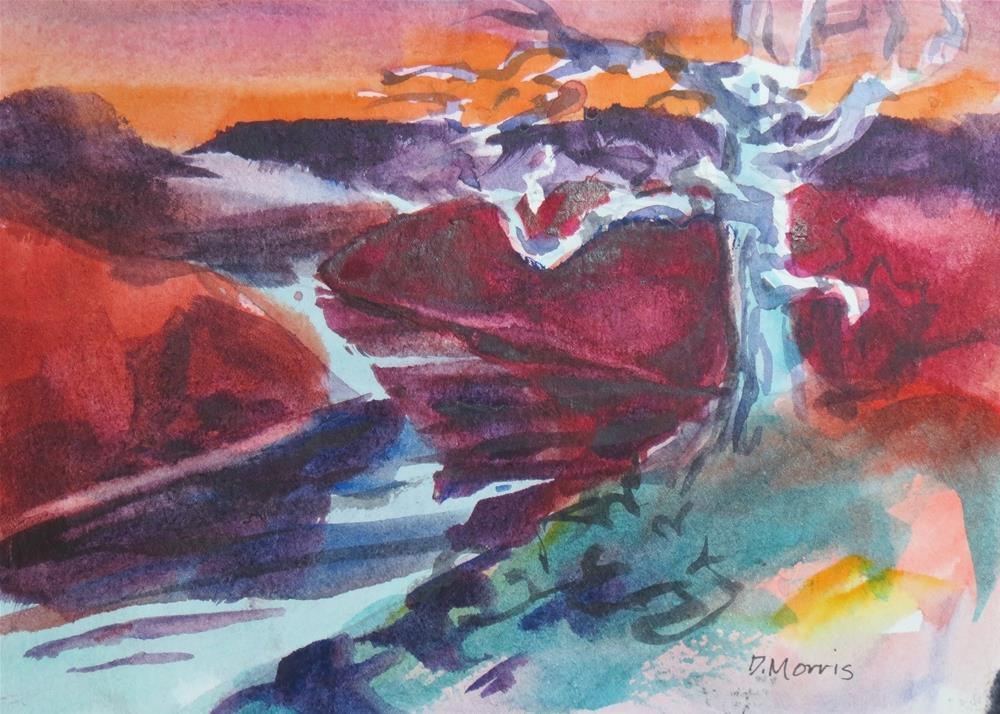"""The Blue Tree"" original fine art by Dann Morris"