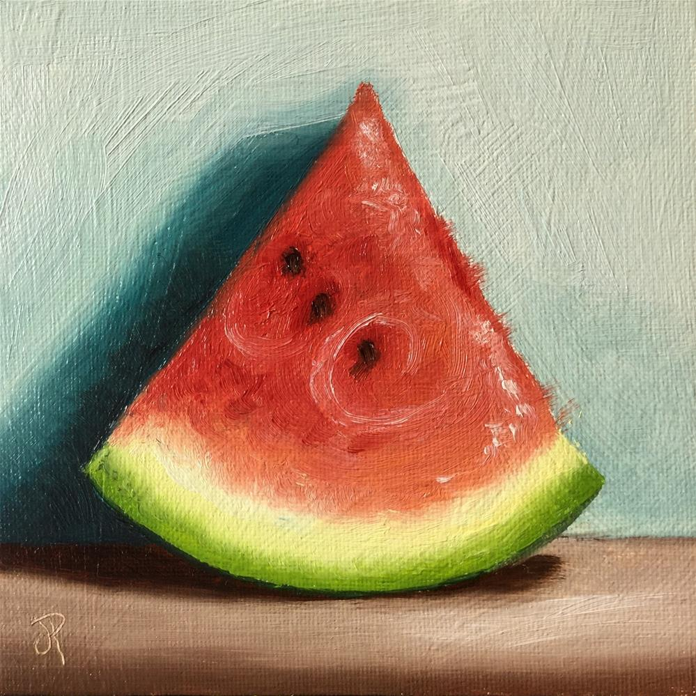 """watermelon slice"" original fine art by Jane Palmer"