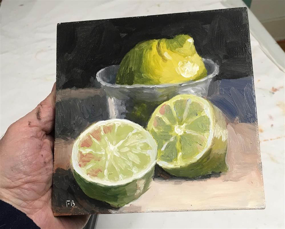 """206 Lemon Lime Taste Fine"" original fine art by Fred Bell"