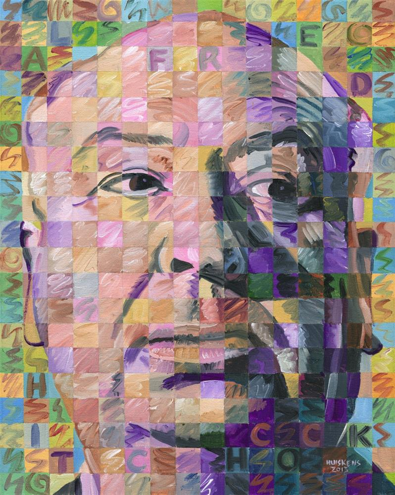 """Alfred Hitchcock #2"" original fine art by Randal Huiskens"