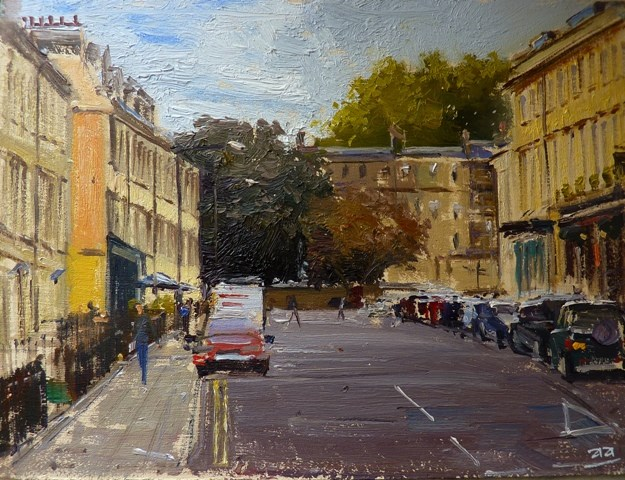 """Albert Street, Bath"" original fine art by Adebanji Alade"