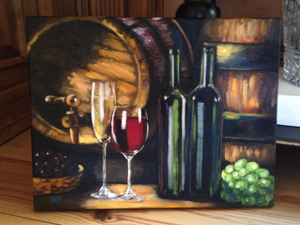 """For the joy of wine #2"" original fine art by Nina K. Nuanes"